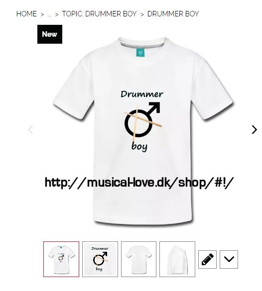 Are you a drummer boy? Or is your SON or GRANDSON a drummer boy? Then he would love this T-shirt. Personalize it in our shop